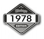 VIntage Edition 1978 Classic Retro Cafe Racer Design External Vinyl Car Motorcyle Sticker 85x70mm